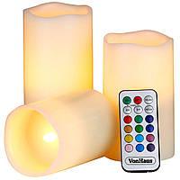 Светодиодные свечи Luma Candles с пультом Белые (8019) КОД: 8019