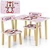 Детский стол с двумя стульчиками Bambi 507-59 Тигренок