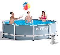 Intex Бассейн каркасный 26702 NP от 6 лет, насос и фильтр в комплекте, 4485л, 305х76 см, в коробке ***