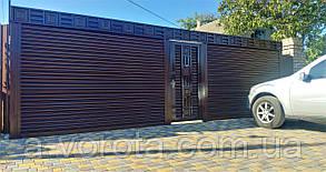 Роллетные стальные ворота TM Hardwick(профиль H76) ш2800 в2200