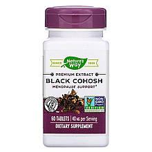 "Клопогон Nature's Way ""Black Cohosh"" поддержка при менопаузе, 40 мг (60 таблеток)"