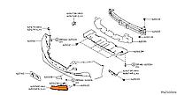 Накладка переднего бампера праваяNissan Leaf ZE1 (18-) 62256-5SK0A