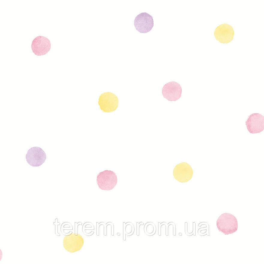 Watercolour Polka Dots Pink_Yellow