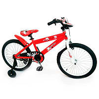 Детский двухколесный велосипед колеса 20 дюймов N-300 Красный