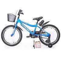 """Детский двухколесный велосипед колеса 20 дюймов INTENSE 20"""" N-200 Blue"""