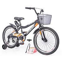 """Детский двухколесный велосипед колеса 20 дюймов INTENSE 20"""" N-200 Black"""