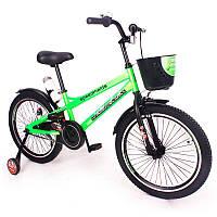 """Детский двухколесный велосипед колеса 20 дюймов """"ZEBR CROSSING-20"""" Green"""