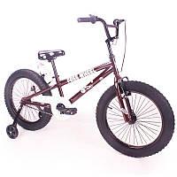 """Детский двухколесный велосипед колеса 20 дюймов """"FREE WHEEL-20"""" Coffee"""