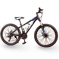 Подростковый велосипед колеса 24 дюймов S300 BLAST-БЛАСТ Чёрно-Синий