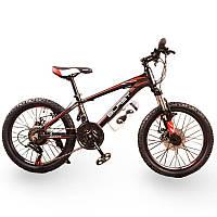 Подростковый велосипед колеса 24 дюймов S300 BLAST-БЛАСТ  Чёрно-Красный