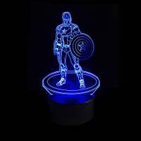3D Светильник Капитан Америка 14 -1