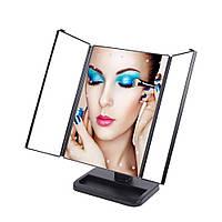 Зеркало для макияжа LED Smart Touch Mirror складное (nri-2030) КОД: nri-2030