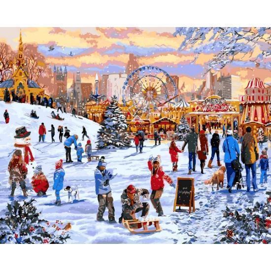 Картина по номерам Рождественские каникулы, 40x50 см., Babylon