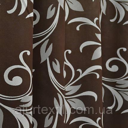 "Штора блэкаут ""Сильвания"" темно коричневая, фото 2"