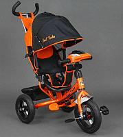⏩  Велосипед трехколесный Best Trike надувные колеса  6588-B оранжевый