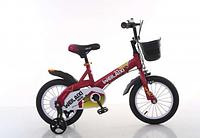 """Детский двухколесный велосипед Топ Райдер (Тop Rider) колеса 16 дюймов  """"876"""" малиновый"""