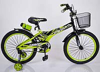 """Детский двухколесный велосипед колеса 20 дюймов """"Racer-20"""" Салатовый, фото 1"""