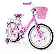 """Велосипед 20 """"BELLISIMA"""" розовый прогулочные с корзинкой"""
