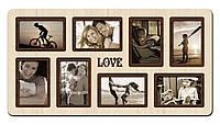 Фоторамка коллаж Love 65х34 см КОД: H8-007B