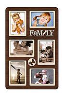 """Фоторамка коллаж """"Family"""" 51х33 см (H6-027A) КОД: H6-027A"""