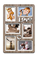 "Фоторамка коллаж ""Love"" 51х33 (H6-021C) КОД: H6-021C"