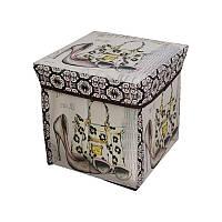 Пуфик с крышкой для хранения вещей Supretto Мишки (5163-0001) КОД: 5163-0001