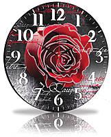 Настенные часы Декор Карпаты Черный  КОД: 45-97