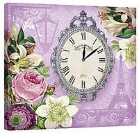 Настенные часы Декор Карпаты 53х53 Фиолетовый  КОД: 53х53-D6