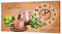 Настенные часы Декор Карпаты 24х44 Время чая  КОД: 24х44-ch36