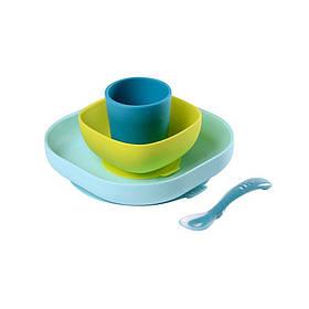 Набір посуду Beaba 4 предмета Різнобарвний КОД: 913428
