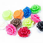 Бусины из Смолы, Цветок, Цвет: Микс, Размер: 19х11.5мм, Отверстие 1мм, (УТ100005995)