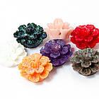 Бусины из Смолы, Цветок, Цвет: Микс, Размер: 19х7мм, Отверстие 1мм, (УТ100005996)