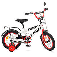 Велосипед детский двухколесный PROFI T14172 Flash 14 дюймов бело-красный, фото 1