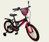 Детский двухколесный велосипед колеса 18 дюймов 191823 Like2bike Dark Rider чёрно-розовый