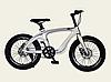 Детский спортивный двухколесный велосипед 20 дюймов M20411 рама из магниевого сплава серебро