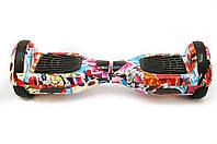 Гироборд 6,5 SmartWay с самобалансом с Bluetooth и колонками Flowers
