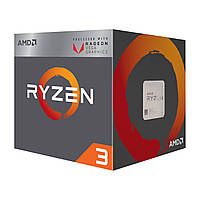 Процессор AMD Ryzen 3 2200G (3.5GHz 4MB 65W AM4) Box (2814-7489) КОД: 2814-7489