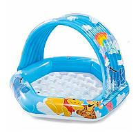 Надувной бассейн INTEX 58415 Винни Пух с навесом