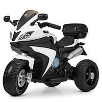 Детский мотоцикл-трицикл Bambi M 4195EL-1 белый