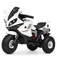 Детский мотоцикл на надувных колесах M 4216AL-1 белый, фото 1