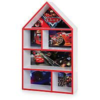 """Домик-стеллаж для игрушек """"Тачки""""  95 см PLK-L-2а белый, фото 1"""