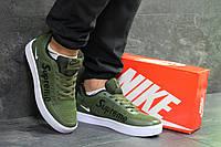 Кроссовки мужские в стиле Nike Supreme, резина, текстиль код SD1-7019. Зеленые