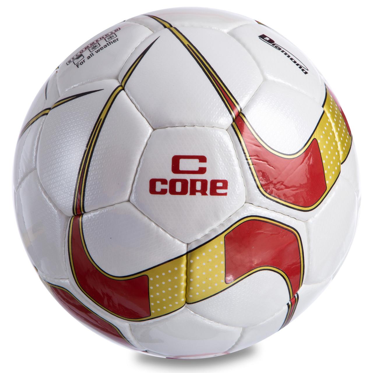 Мяч футбольный №5 PU ламин. CORE DIAMOND
