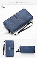 Мужской кошелек клатч портмоне Baellerry S1511 синий