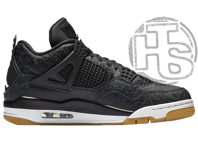 Мужские кроссовки Air Jordan 4 Retro Laser Black White Gum CI1184-001