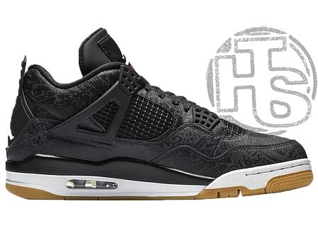 Мужские кроссовки Air Jordan 4 Retro Laser Black White Gum CI1184-001, фото 2