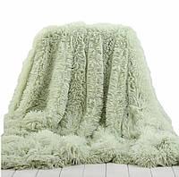 Покрывало с длинным ворсом Leopollo Светло-зеленый  КОД: 0612