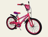 Детский двухколесный велосипед колеса 20 дюймов 192032 Like2bike Sprint розовый