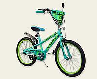 Детский двухколесный велосипед колеса 20 дюймов 192033 Like2bike Sprint зеленый