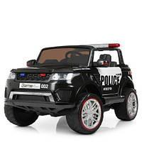Детский джип Land Rover Police M 3273EBLR-1-2 Полиция, кожанное сиденье, фото 1